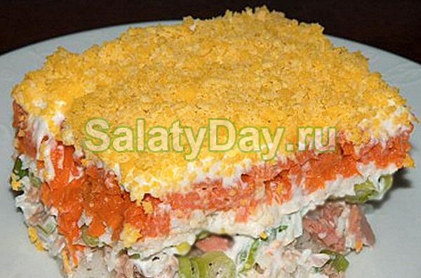 Салат из риса и рыбы - Мимоза