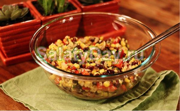 Салат на скорую руку – «Кукурузный»