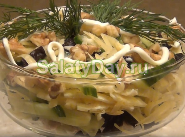 Салат нежность - коктейльный вариант