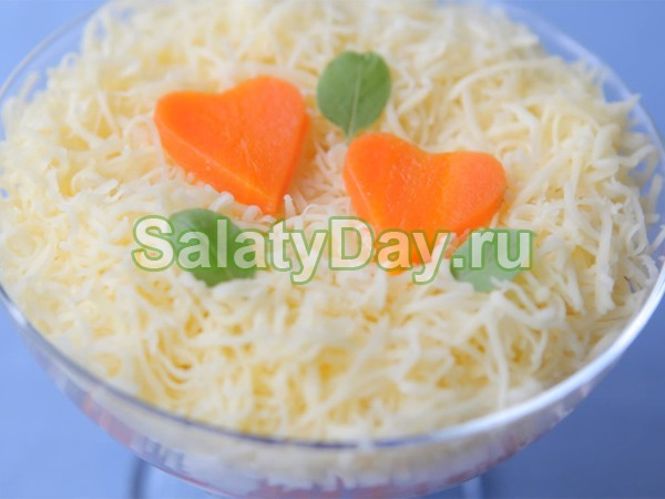 Салат нежность - я яблоками, морковью я яйцами