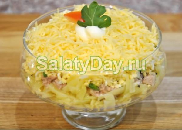 Салат нежность - с печенью трески