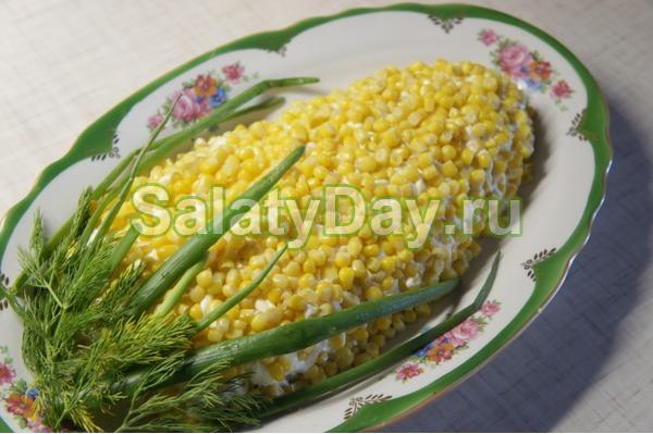 Салат с черносливом – «Кукуруза»