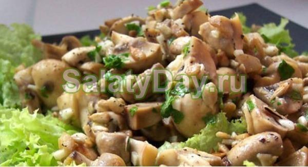 салат из шампиньонов c фото