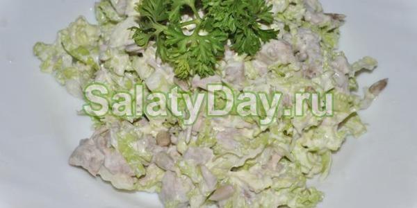 Салат из говядины с капустой рецепт