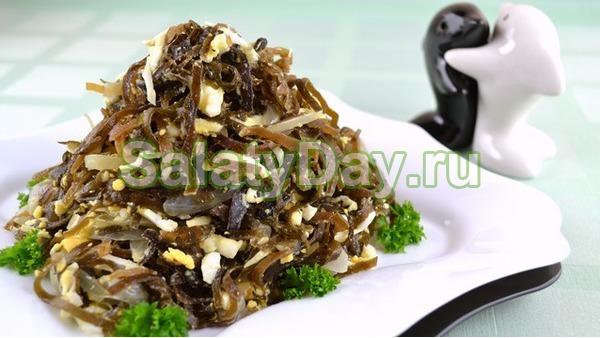 Салат из морской капусты и яиц рецепт очень вкусный