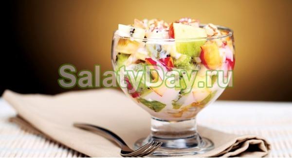 Фруктовый салат с йогуртом рецепт на новый год