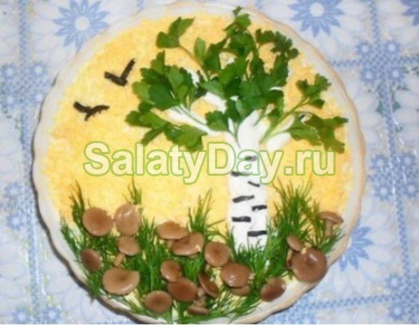 салат белая береза рецепт с сыром