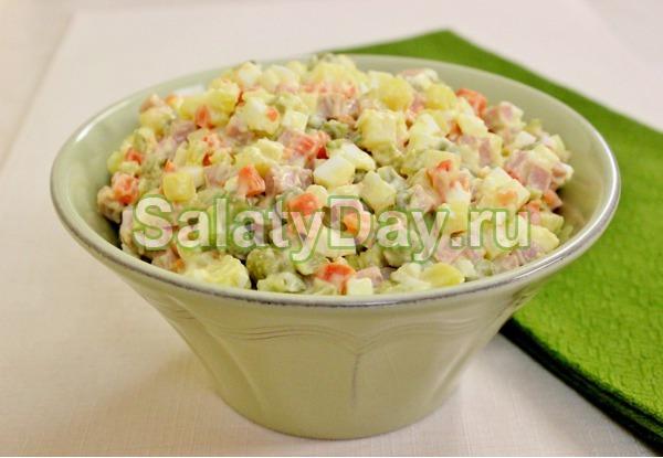 рецепт салатов оливье на 10 порций