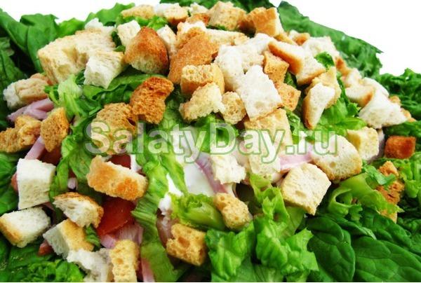 "Простой салат на Новый год - ""А-ля Цезарь"""