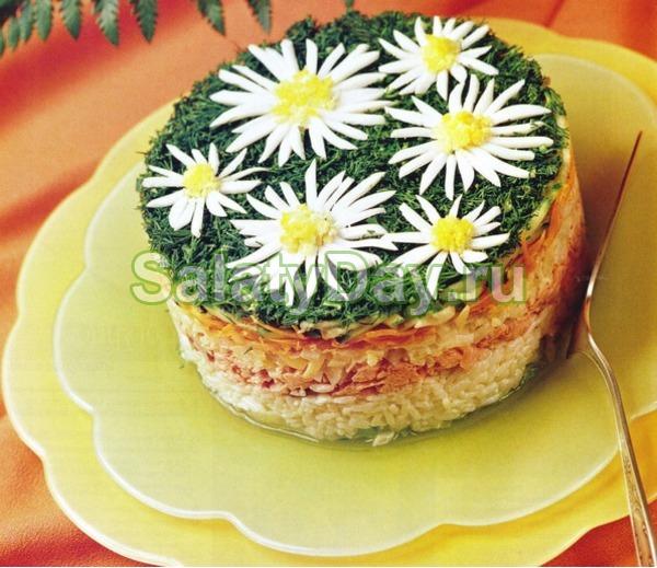 Салат «Ромашка» с горбушей