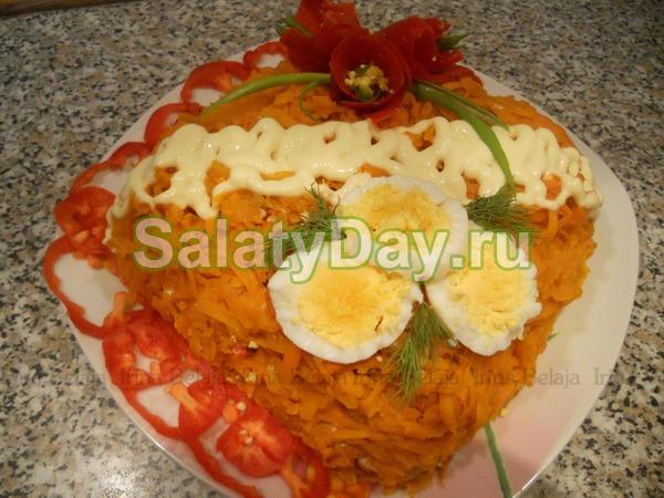 Салат ромашка рецепт с с горбушей