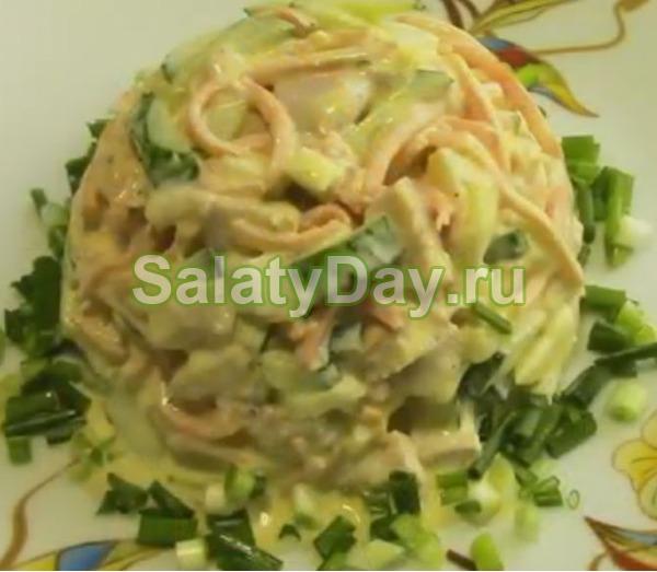 Салат с корейской морковью и курицей – «Шедевр»