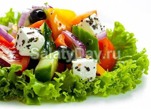 Салат «Огород для петушка»