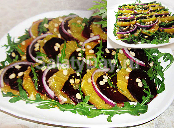 Овощной салат со свеклой слоеный
