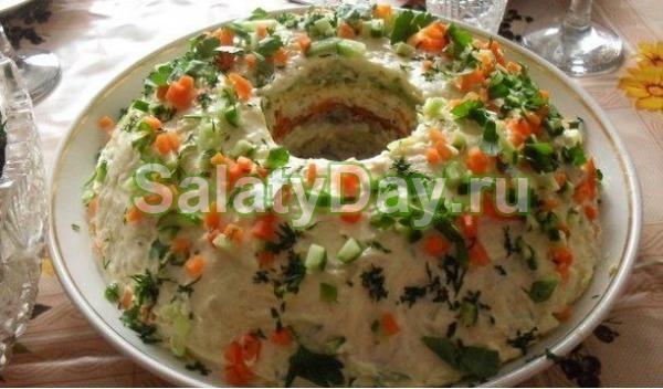 Салат из рыбных консервов «Кольцо»