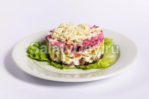 Салат из рыбных консервов «Сардина под шубой»