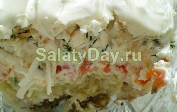 Салат из рыбных консервов «Океан»