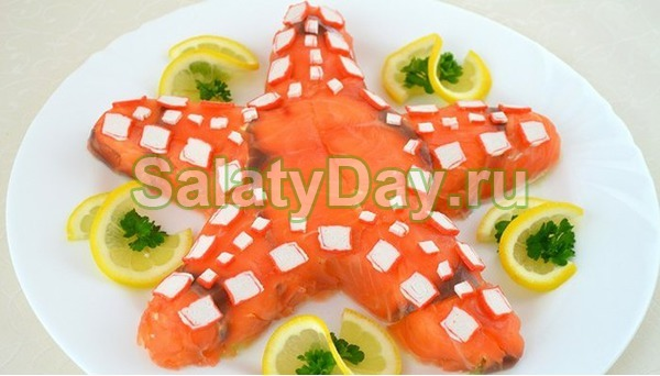 Салат Морская звезда с сыром