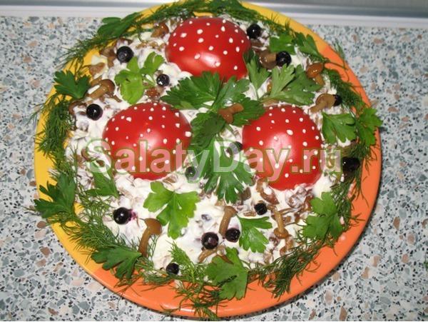 Салат полянка простой рецепт