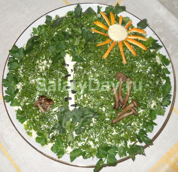 как приготовить салат полянка фото
