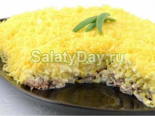 салат мужские грезы рецепт с курицей