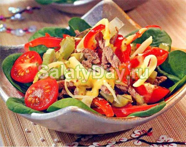 Салат из говяжьего языка – «Сплетница»