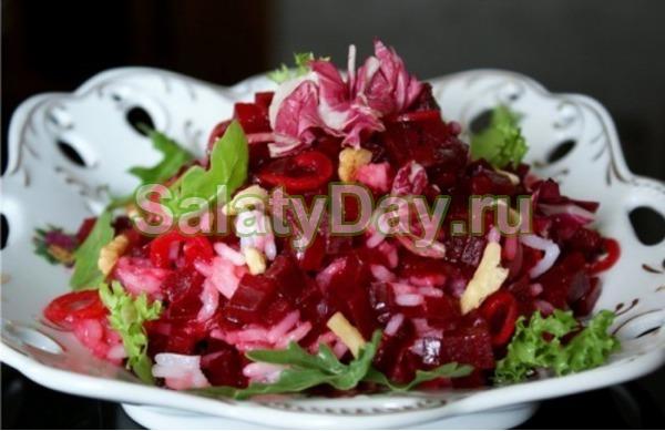 "Постный салат без майонеза ""Вечер"""