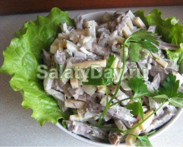 Рецепты салатов с сердцем говяжьим