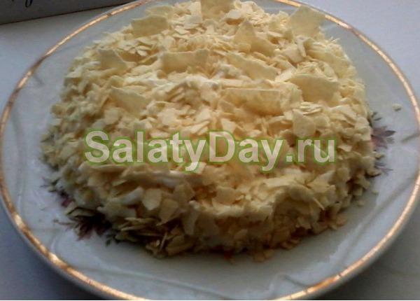 Салат курица копченая с ананасом рецепт классический