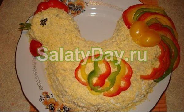 Салат на год петуха
