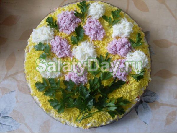 Оригинальный салат Сирень