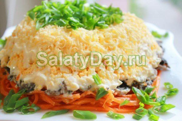 салат из копченой курицы рецепт и корейской моркови