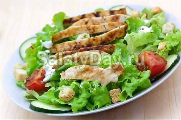 Салат «Цезарь» с оливковым маслом