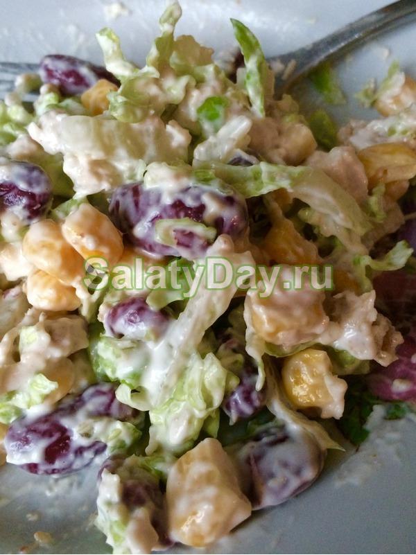 рецепт салата с красной фасолью и майонезом