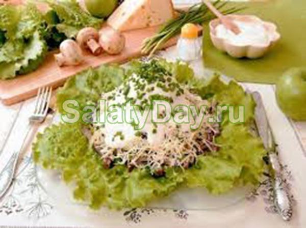 Простой салат с ананасом и куриным филе рецепт  Вкусору