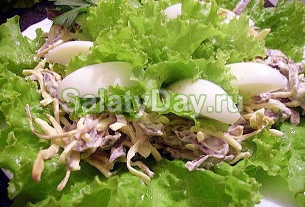 Салат из сердца свиного рецепт с сыром
