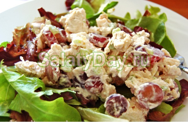 легкий вкусный салат с курицей рецепт