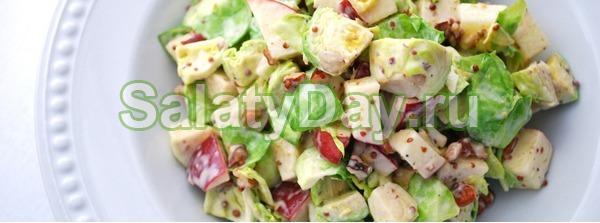 Салат из винограда, курицы и сыра фета