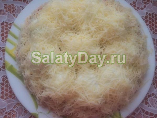 Салат с рыбными консервами «Сугроб»