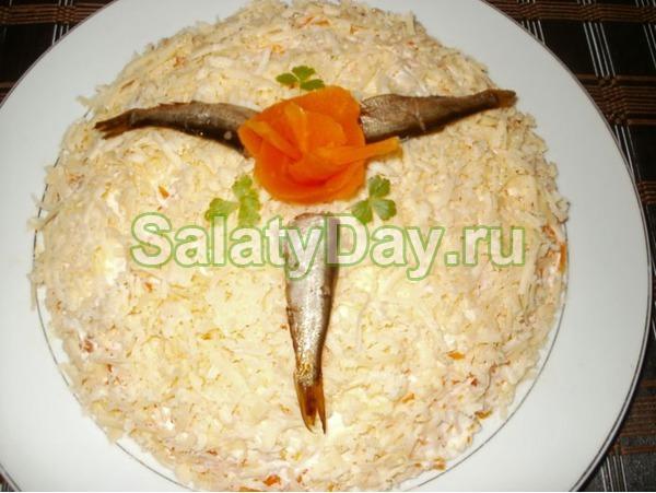 Салат со шпротами «Море»
