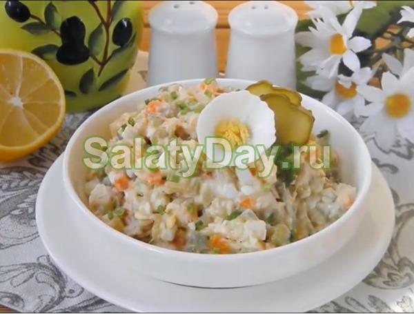 Салат столичный с курицей – классический