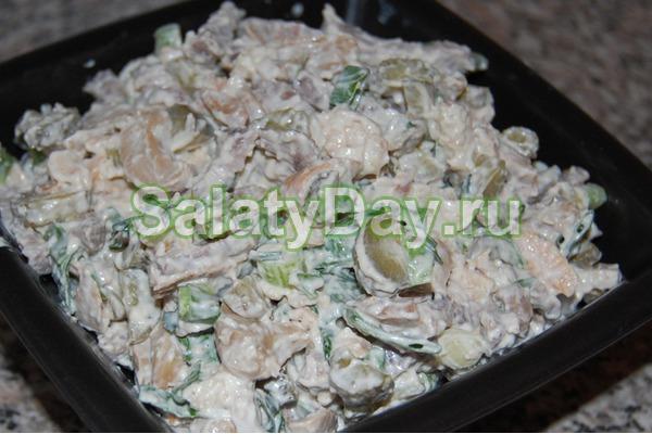 Салат «Мужской каприз» с говядиной и грибами
