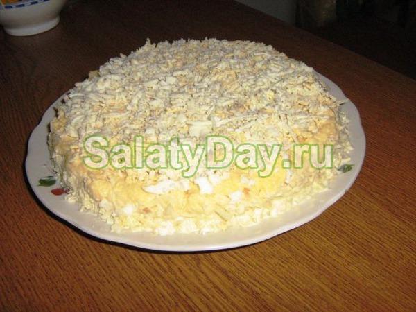Салат «Мужской каприз» с говядиной и помидорами