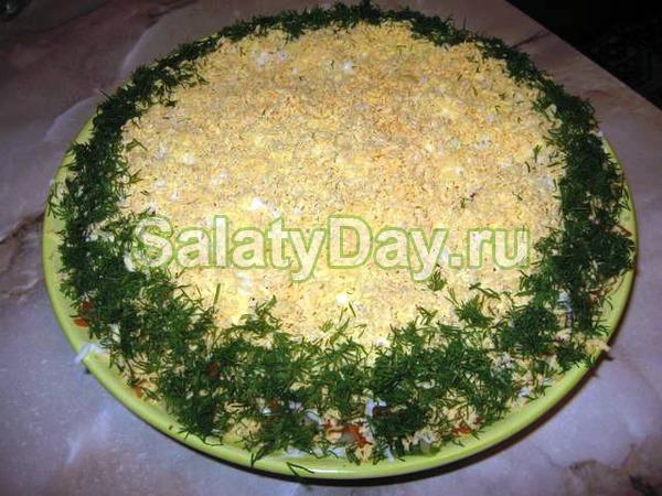 Салат «Мужской каприз» с яйцами