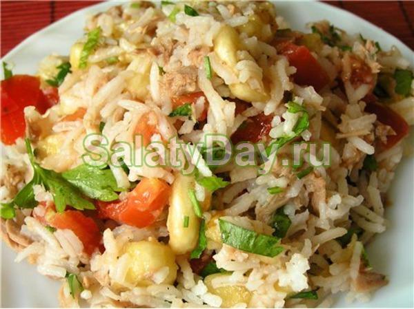 Салат «Мужской каприз» с рисом