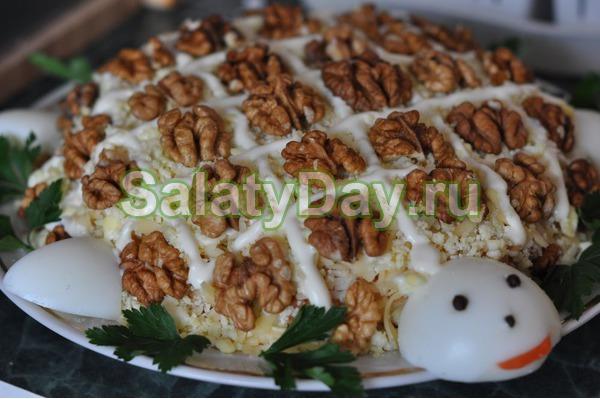 салат черепаха светчиной рецепт