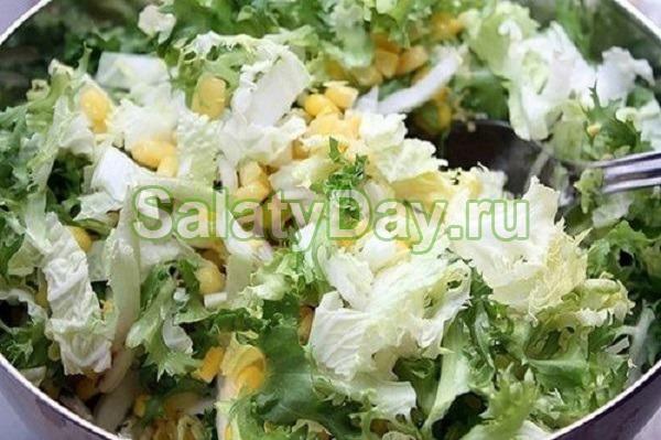Пекинский яблочно-куриный салат