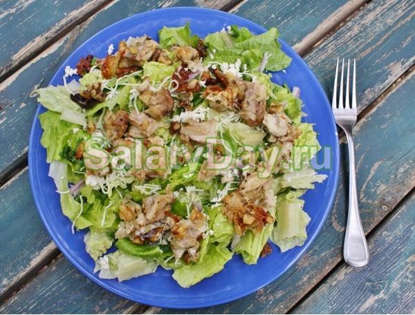 рецепт салата с курицей ананасом и грецкими орехами рецепт