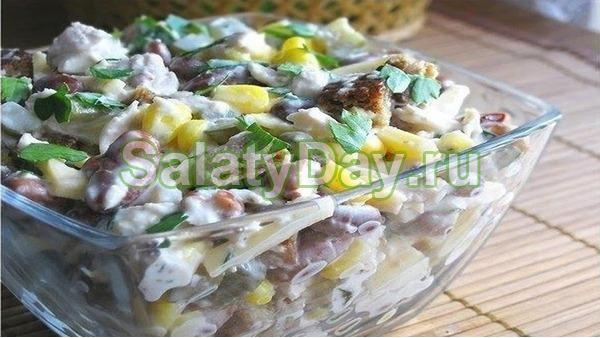 Салат с красной фасолью рецепт простой