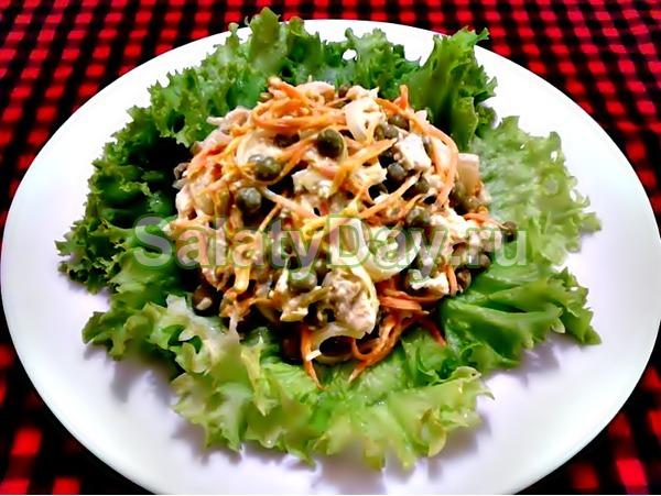 Салат «Купеческий» со свининой